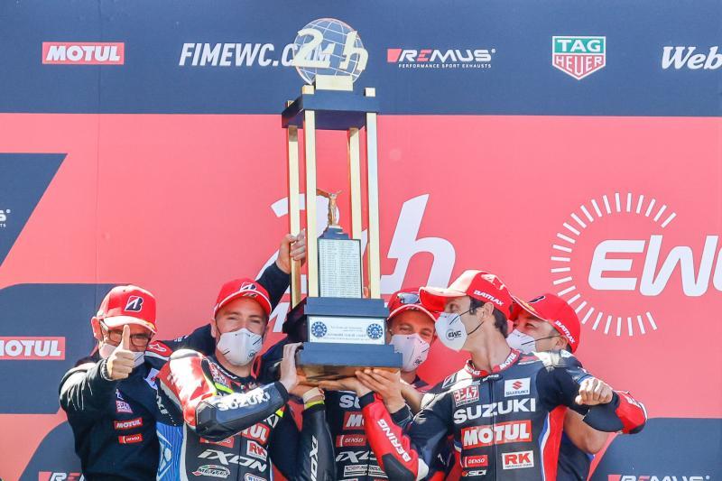 Suzuki Wins the First Round of 2021 FIM Endurance World  Championship, 24 Heures Motos at Le Mans